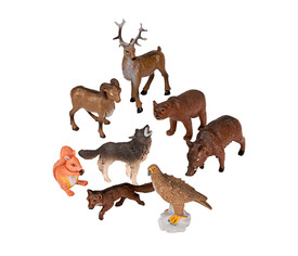 Animales bosque, 8 u.