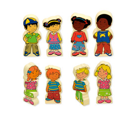 Magnetic kids, 8 personajes