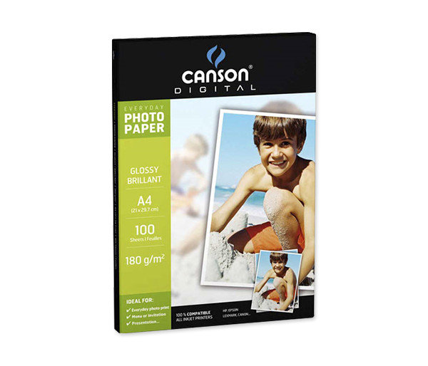 Papel Photo Glossy A4 - caja 100 h.
