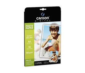 Papel Photo Glossy A4 - caja 10 h.