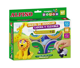 Pasta Alpino Magic Dough, 6 botes 40 g animales