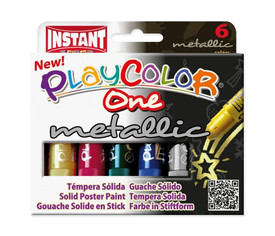 PlayColor Metallic 10 g - Estuche 6 u. col. surt.